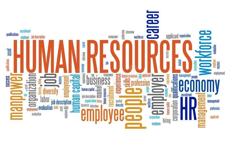 ресурсы людей группы коммерсантки дела людские большие иллюстрация вектора