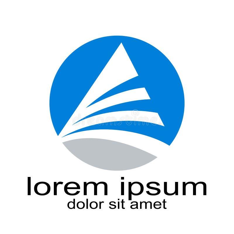 Ресурс графика логотипа triangel творческого дизайна круглый иллюстрация штока