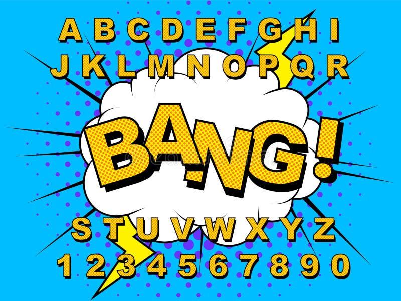 Ретро алфавита шуточное бесплатная иллюстрация