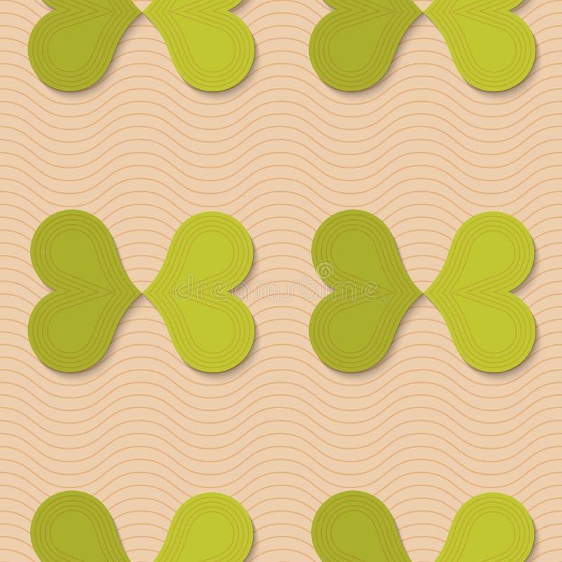 Ретро бабочки зеленого цвета створки иллюстрация штока