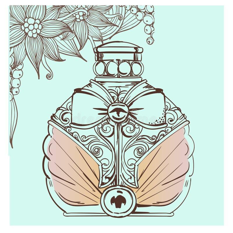 Ретро бутылка дух бесплатная иллюстрация