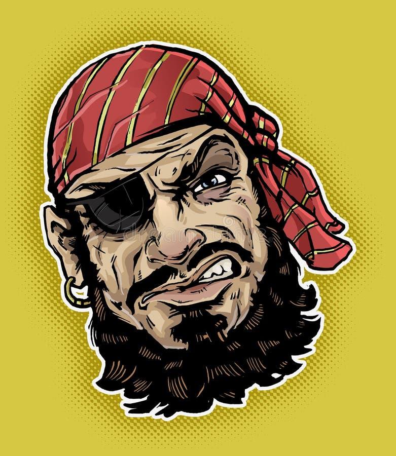 Классицистический пират иллюстрация вектора
