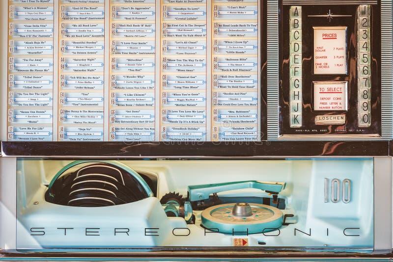 Ретро введенное в моду изображение старого музыкального автомата стоковые изображения