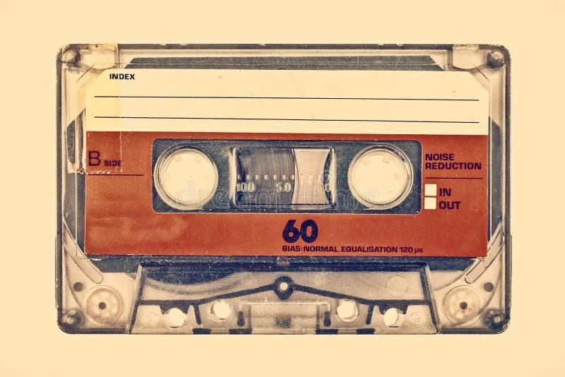 Ретро введенное в моду изображение старой компактной кассеты стоковое фото