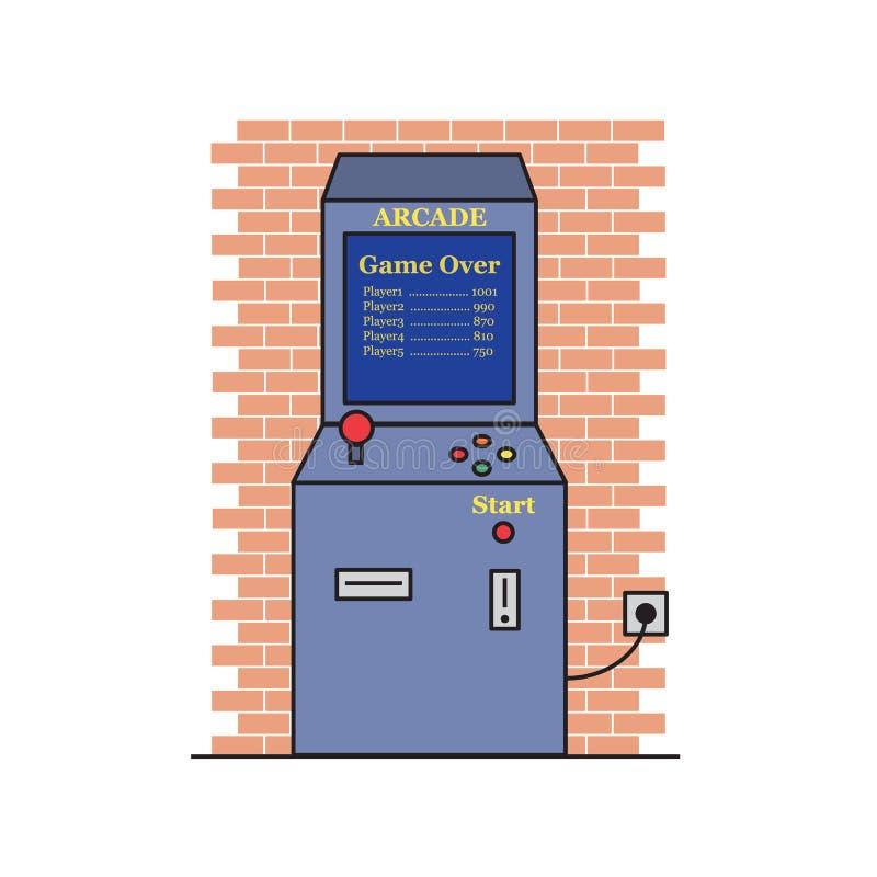 Ретро вектор машины видеоигры иллюстрация вектора