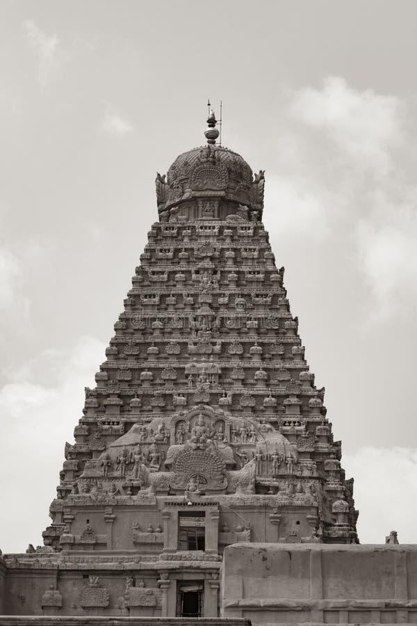 Ретро взгляд виска Thanjavur большого стоковые фотографии rf