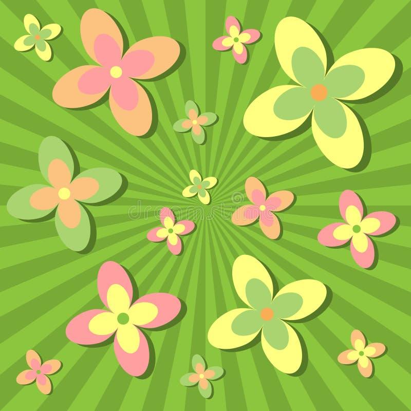 Download ретро взрыва флористическое Иллюстрация вектора - иллюстрации насчитывающей пинк, красивейшее: 6856179