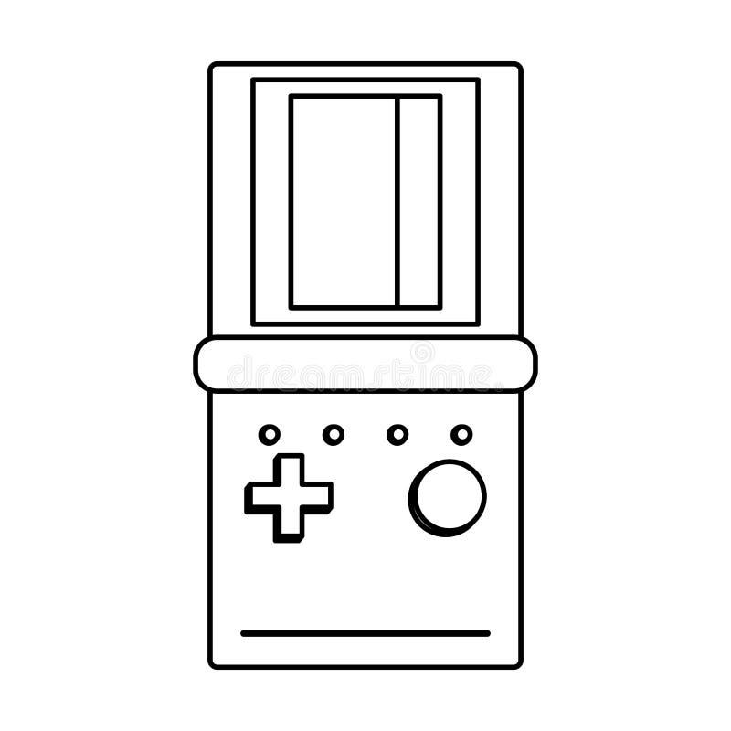 ретро-винтажная игра тетрис карикатура в черно-белом бесплатная иллюстрация