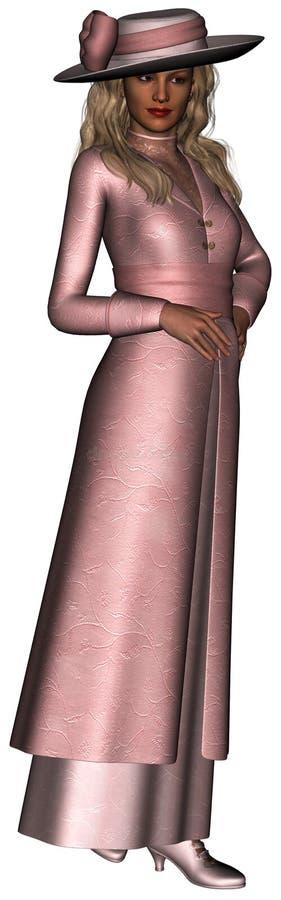 Ретро винтажная изолированная иллюстрация женщины бесплатная иллюстрация
