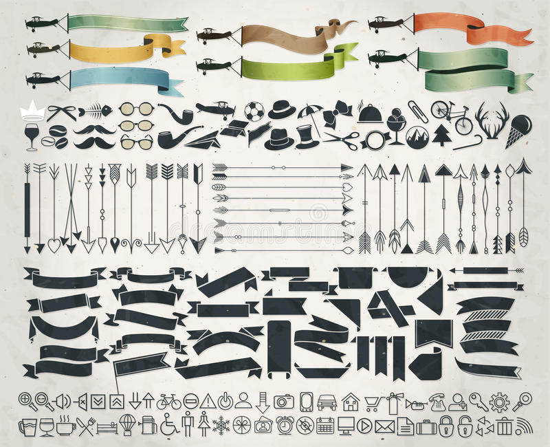 Ретро винтажные дизайны фаст-фуда стиля иллюстрация вектора