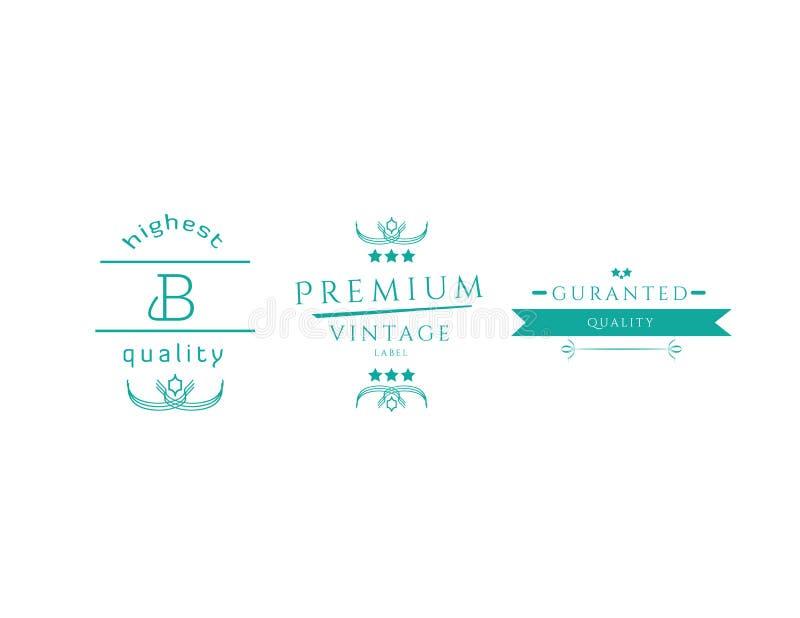 Ретро винтажные установленные Insignias или логотипы Vector элементы дизайна, знаки дела, логотипы, идентичность, ярлыки, значки  бесплатная иллюстрация
