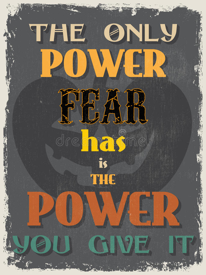 Ретро винтажный мотивационный плакат цитаты иллюстрация вектора