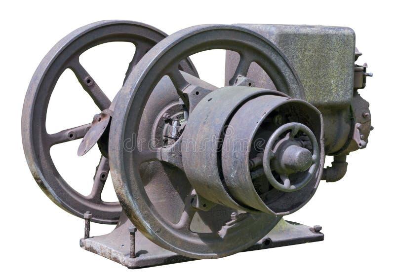 Ретро винтажный ржавый двигатель дизеля стоковое фото rf