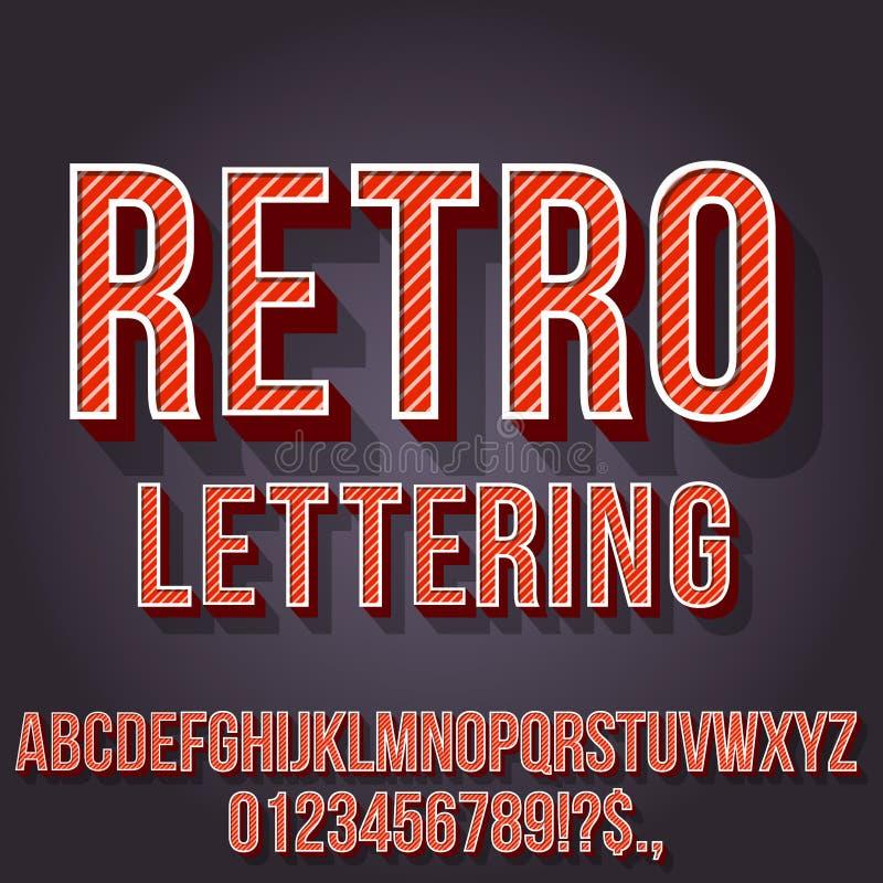 Ретро винтажный шрифт бесплатная иллюстрация