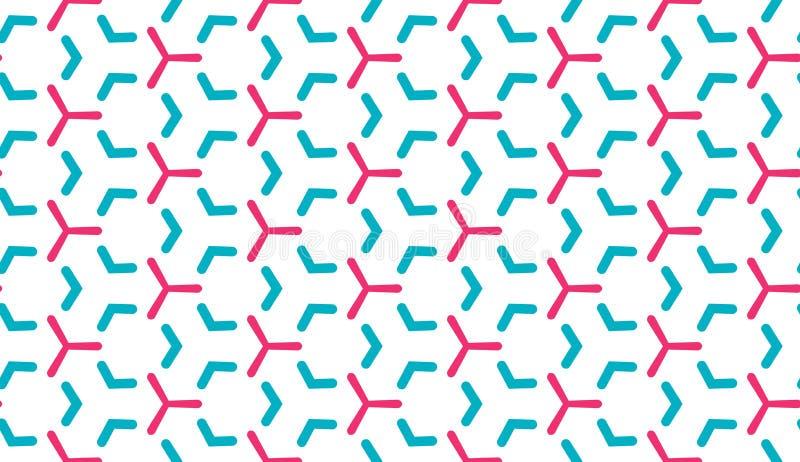 Ретро геометрическая картина в повторении Печать ткани Безшовная предпосылка, орнамент мозаики, винтажный стиль иллюстрация штока