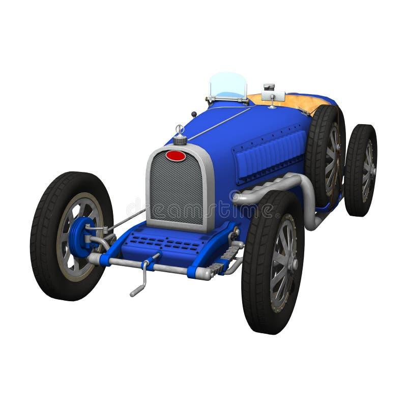 Ретро гоночный автомобиль Grand Prix бесплатная иллюстрация