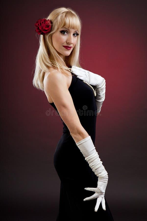 Ретро девушка стоковая фотография rf