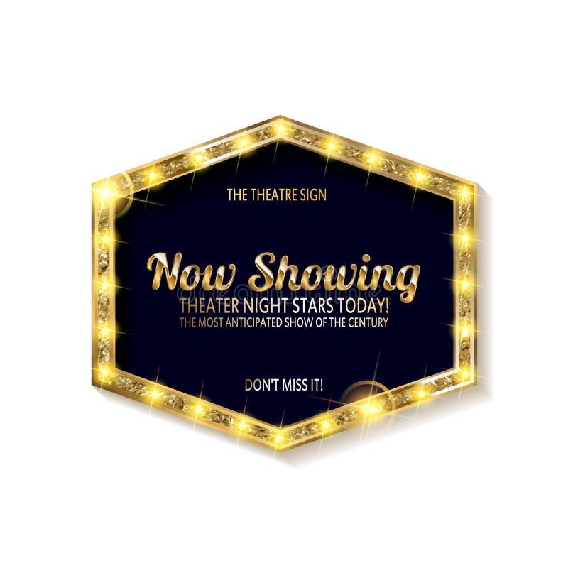 Ретро дизайн знака Showtime бесплатная иллюстрация