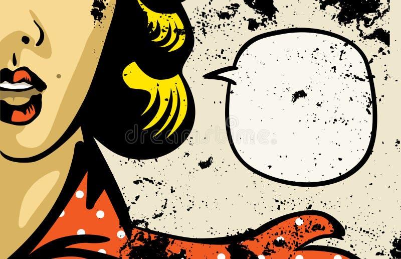 Комиксы женщины ретро иллюстрация штока