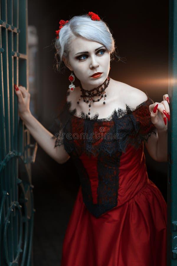 ретро женщина типа стоковая фотография