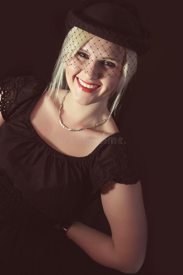 Ретро женщина стоковые фото