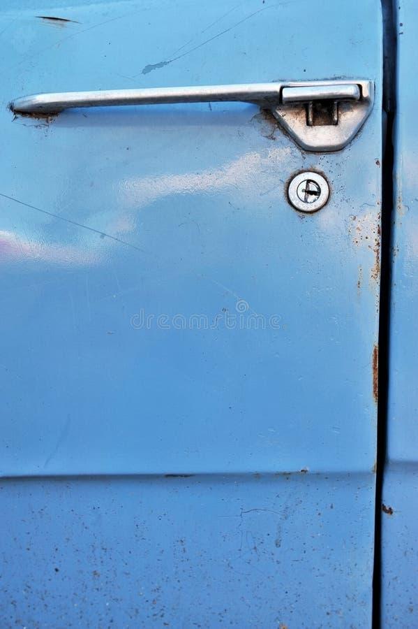 Ретро замок автомобильной двери стоковое изображение rf