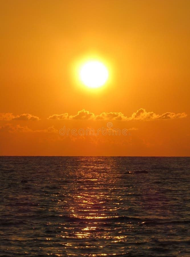 ретро заход солнца стоковое фото rf