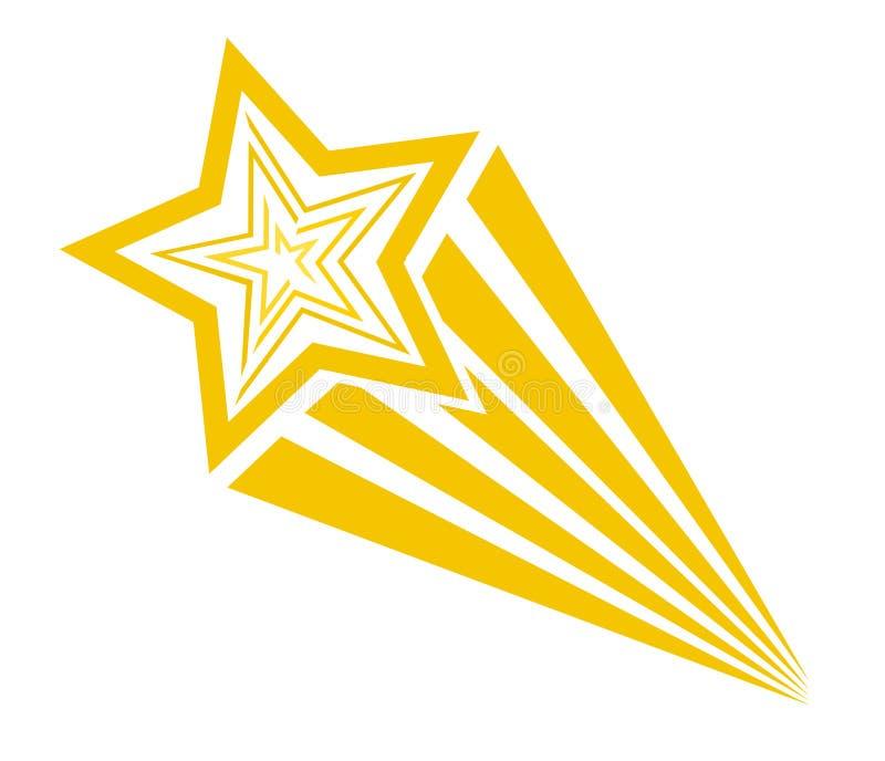 Ретро звезда стрельбы стиля искусства шипучки шаржа шуточная Illustra вектора бесплатная иллюстрация