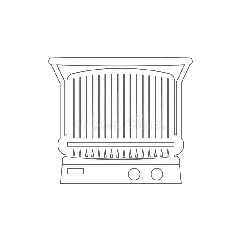 ретро значок прибора радио Элемент безопасности кибер для мобильных концепции и значка приложений сети Тонкая линия значок для ди иллюстрация штока
