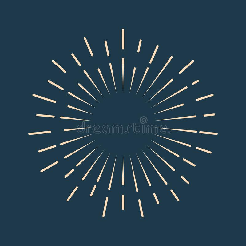 Ретро значок starburst иллюстрация вектора