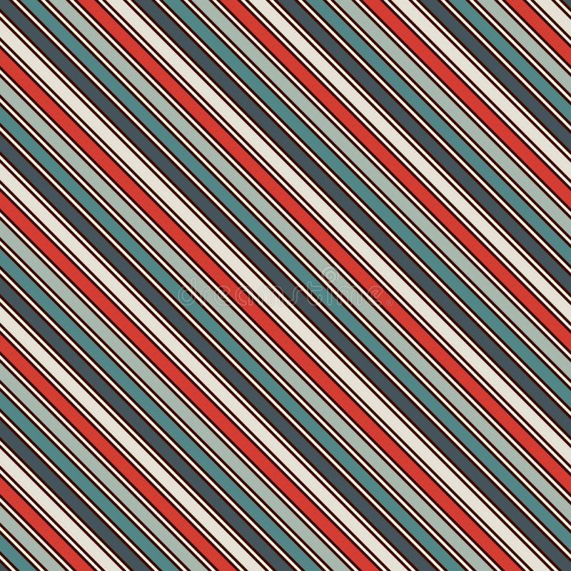 Ретро диагональ цветов stripes абстрактная предпосылка Тонкая наклоняя линия обои Безшовная картина с классическим мотивом иллюстрация вектора