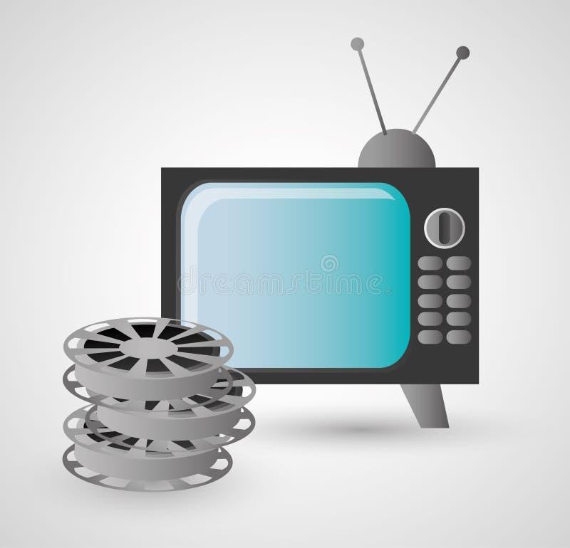 Ретро дизайн ТВ и видео бесплатная иллюстрация