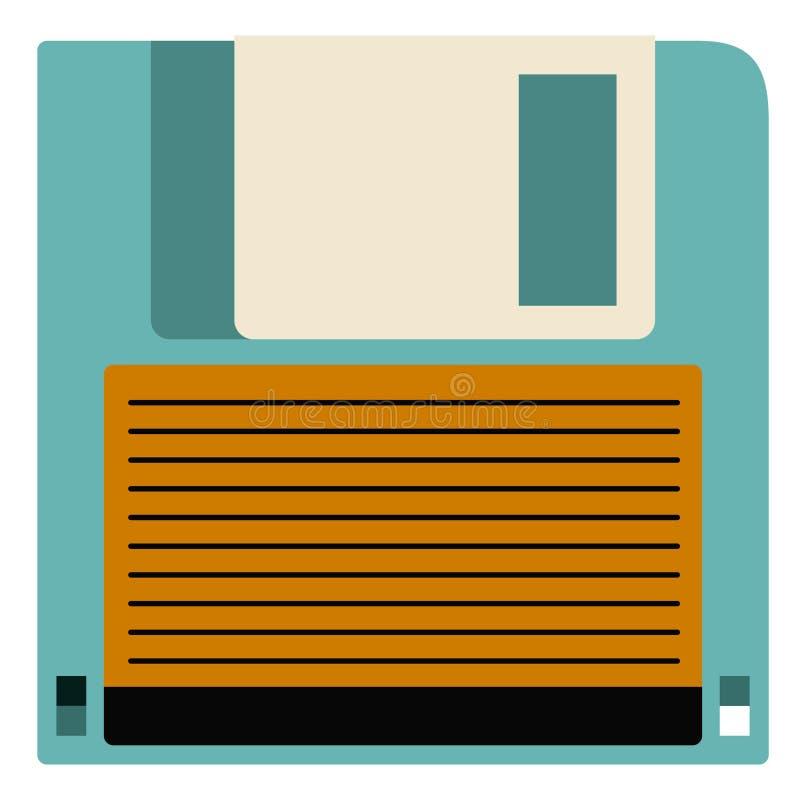 Ретро дизайн технологии дискета иллюстрация штока
