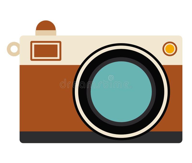 Ретро дизайн технологии камеры иллюстрация вектора