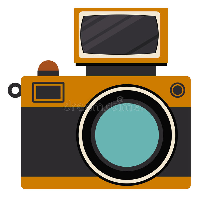 Ретро дизайн технологии камеры бесплатная иллюстрация