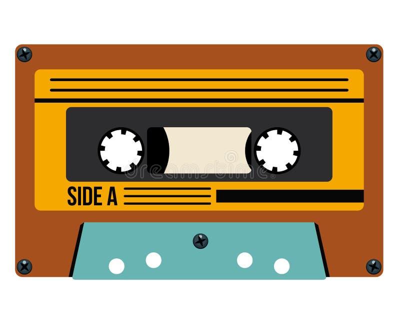 Ретро дизайн технологии кассеты бесплатная иллюстрация