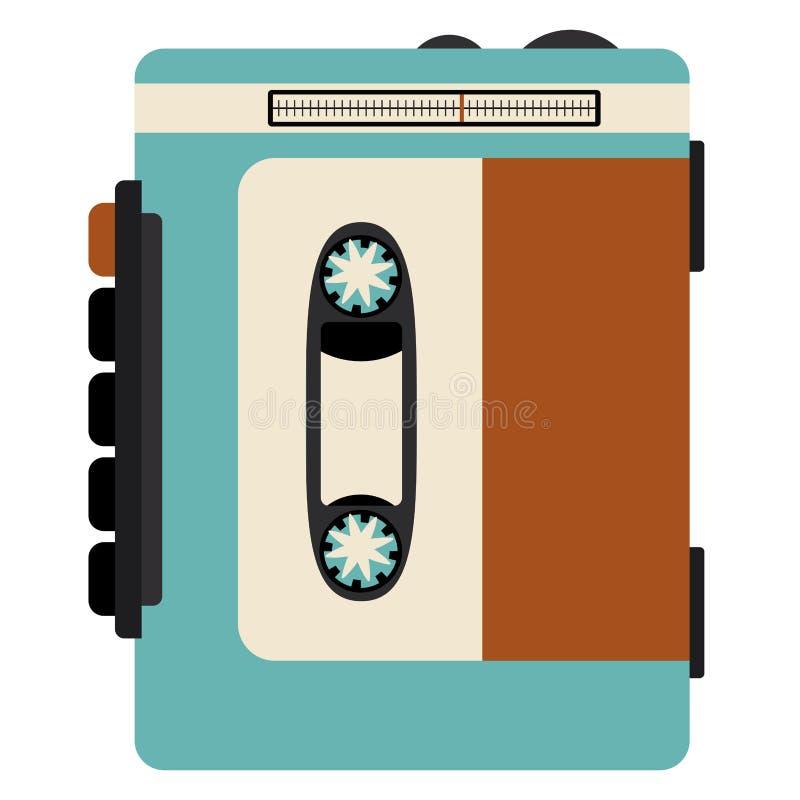 Ретро дизайн технологии кассеты иллюстрация вектора