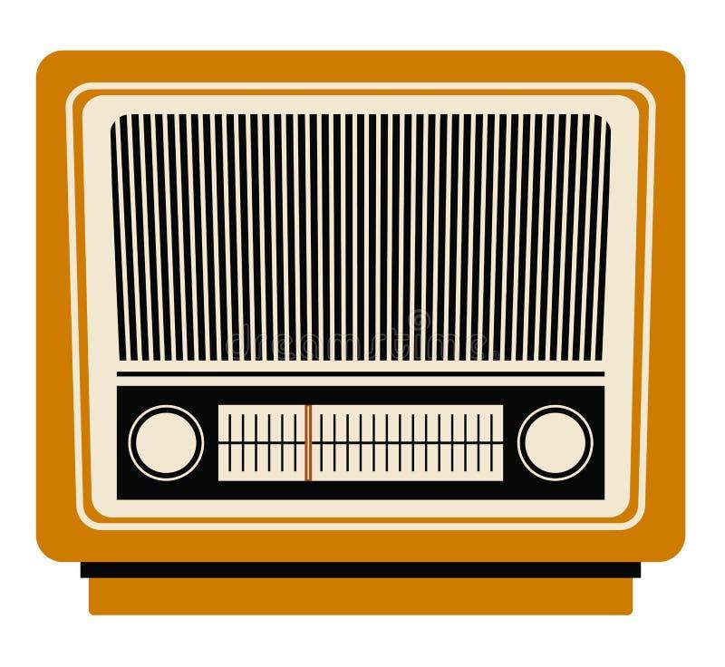 Ретро дизайн технологии радио бесплатная иллюстрация