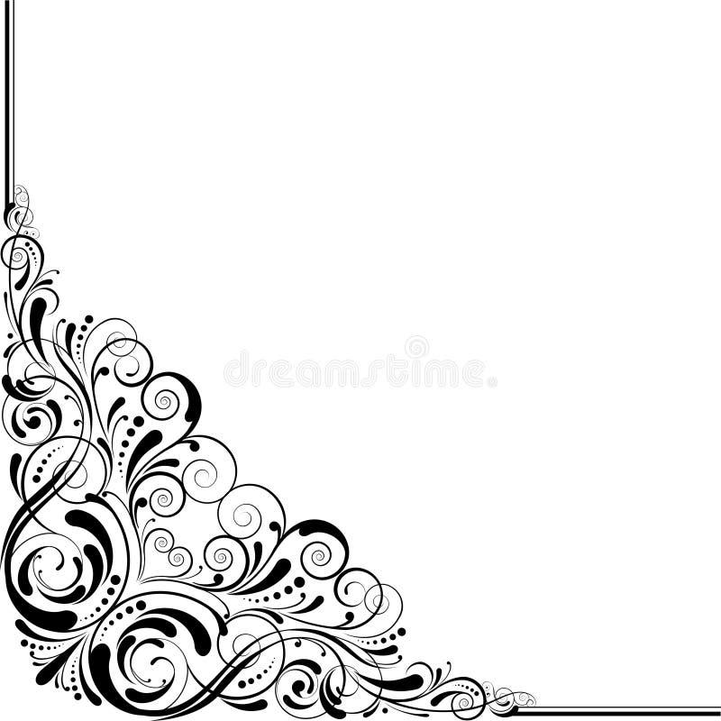 Ретро дизайн угла иллюстрация вектора
