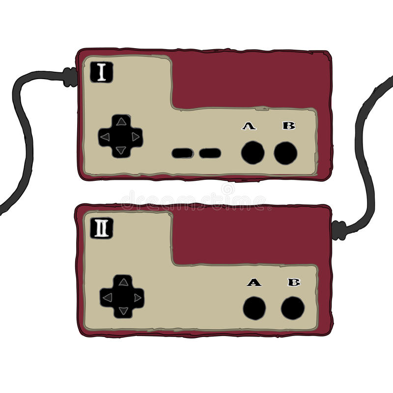 Ретро изолированный регулятор видеоигры бесплатная иллюстрация