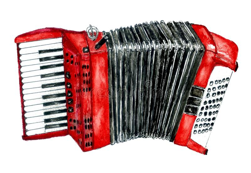 Ретро искусство аккордеона стоковые изображения