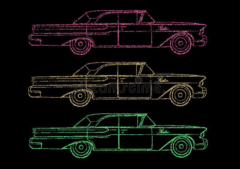 Ретро Кадиллак, автомобиль иллюстрация вектора