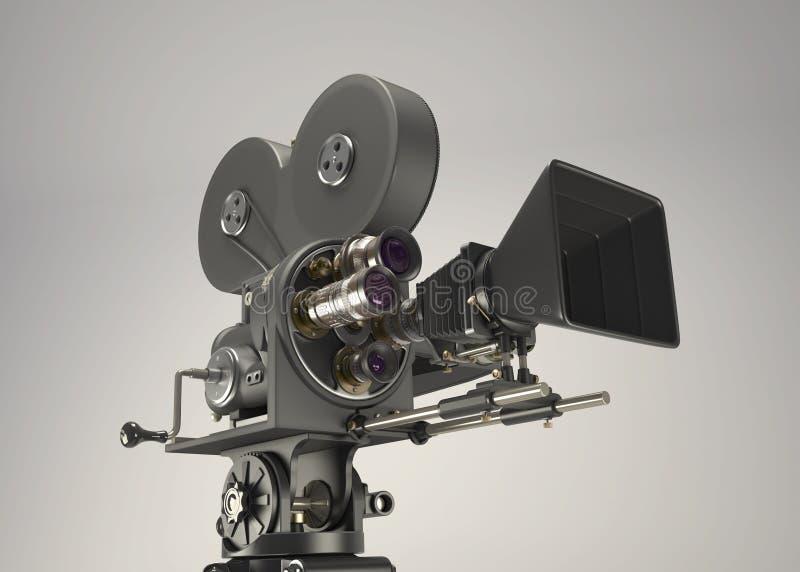 ретро камера кино 3d иллюстрация вектора