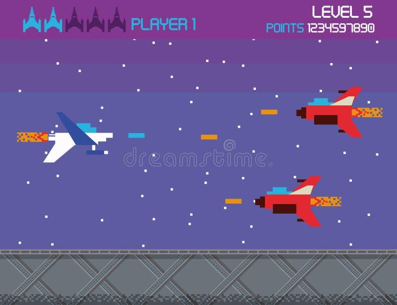 Ретро карта предпосылки аркады экрана видеоигры бесплатная иллюстрация