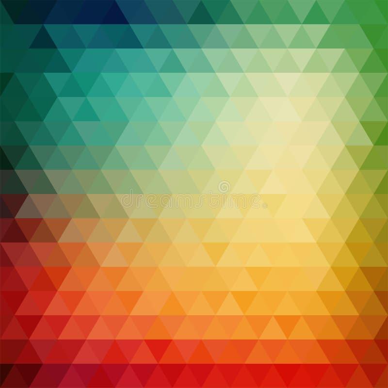 Ретро картина мозаики геометрических форм треугольника иллюстрация штока