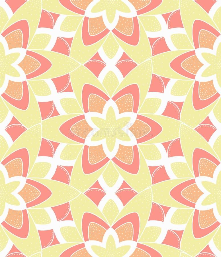 Ретро картина цветка Monoline розовая желтая бесплатная иллюстрация