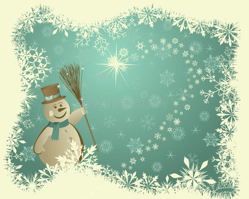 Ретро карточка рождества (Новый Год) бесплатная иллюстрация