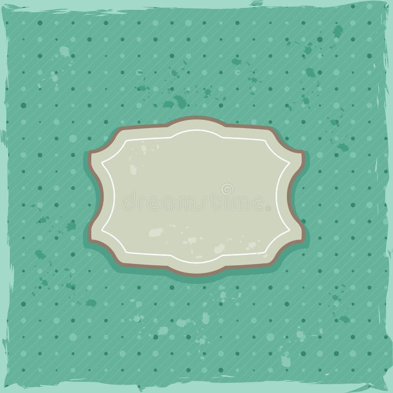 Ретро карточка с серым ярлыком бесплатная иллюстрация