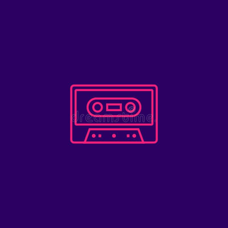 ретро кассета музыки ленты 80s иллюстрация вектора