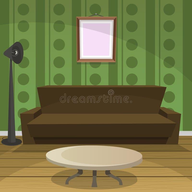 Ретро комната иллюстрация штока